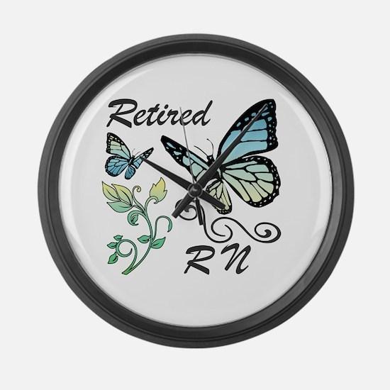 Retired Registered Nurse (RN) Large Wall Clock