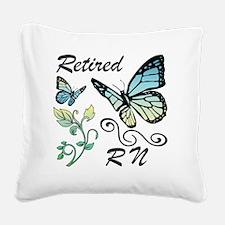 Retired Registered Nurse (RN) Square Canvas Pillow