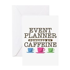 Event Planner Powered by Caffeine Greeting Card