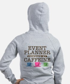 Event Planner Powered by Caffeine Zip Hoodie
