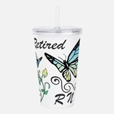 Retired Registered Nur Acrylic Double-wall Tumbler