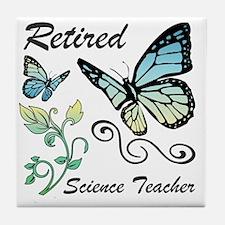 Retired Science Teacher Tile Coaster