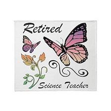 Retired Science Teacher Throw Blanket