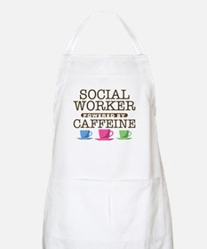Social Worker Powered by Caffeine Apron