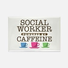 Social Worker Powered by Caffeine Rectangle Magnet