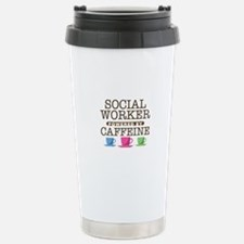 Social Worker Powered by Caffeine Ceramic Travel M