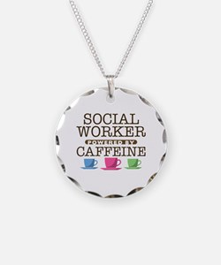 Social Worker Powered by Caffeine Necklace