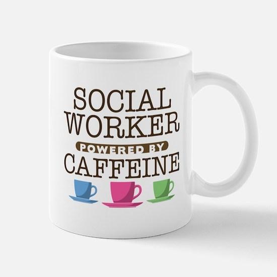 Social Worker Powered by Caffeine Mug
