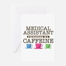 Medical Assistant Powered by Caffeine Greeting Car