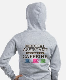 Medical Assistant Powered by Caffeine Zip Hoody