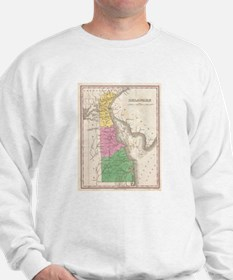 Vintage Map of Delaware (1827) Sweatshirt