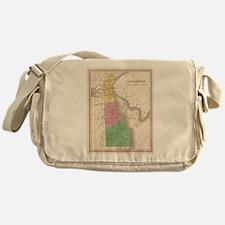 Vintage Map of Delaware (1827) Messenger Bag