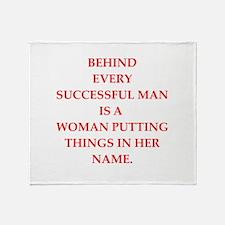 success Throw Blanket