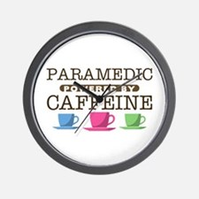 Paramedic Powered by Caffeine Wall Clock