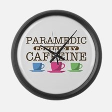 Paramedic Powered by Caffeine Large Wall Clock