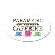 Paramedic Powered by Caffeine 38.5 x 24.5 Oval Wal