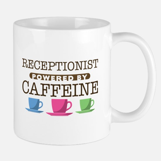 Receptionist Powered by Caffeine Mug