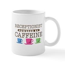 Receptionist Powered by Caffeine Small Mug