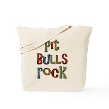 Pit Bulls Rock Dog Lover Tote Bag