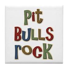 Pit Bulls Rock Dog Lover Tile Coaster