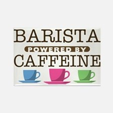 Barista Powered by Caffeine Rectangle Magnet