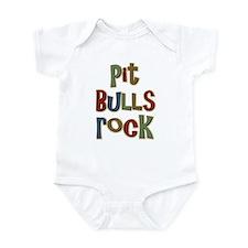 Pit Bulls Rock Dog Lover Infant Bodysuit