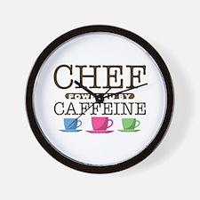Chef Powered by Caffeine Wall Clock