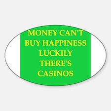 casino Sticker (Oval)
