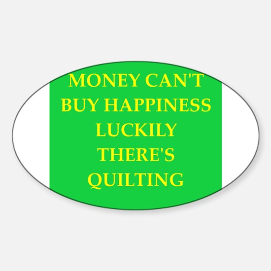 quilter Sticker (Oval)
