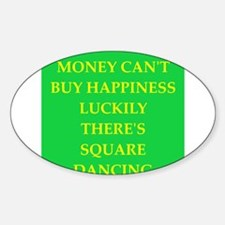SQUARE.png Sticker (Oval)