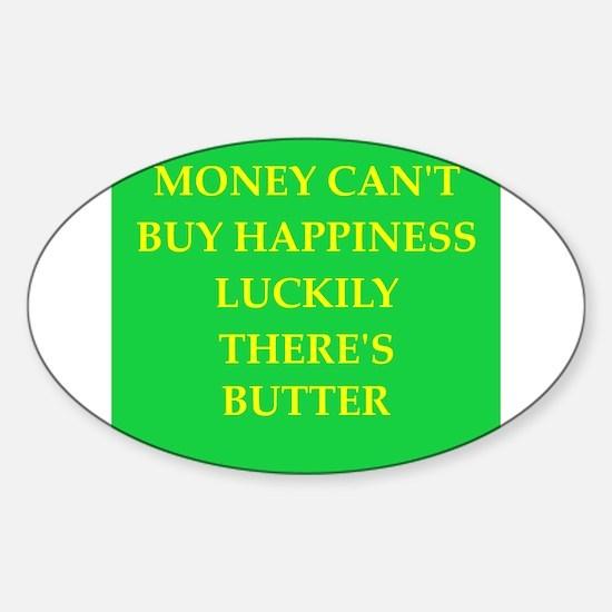butter Sticker (Oval)