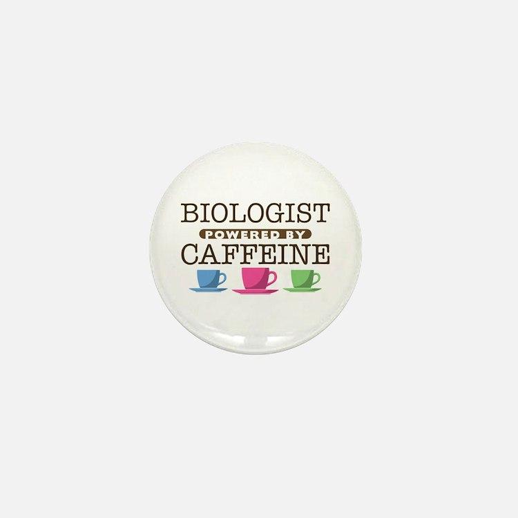 Biologist Powered by Caffeine Mini Button