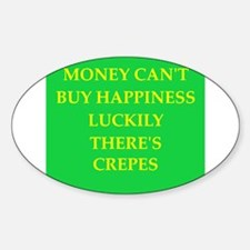 crepes Sticker (Oval)