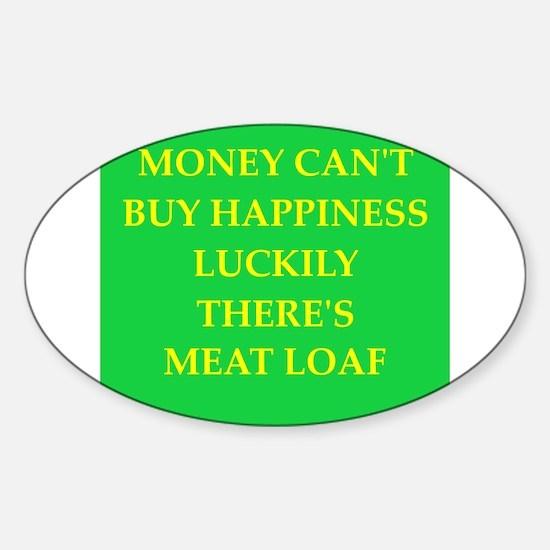meat loaf Sticker (Oval)