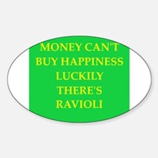 ravioli Sticker (Oval)