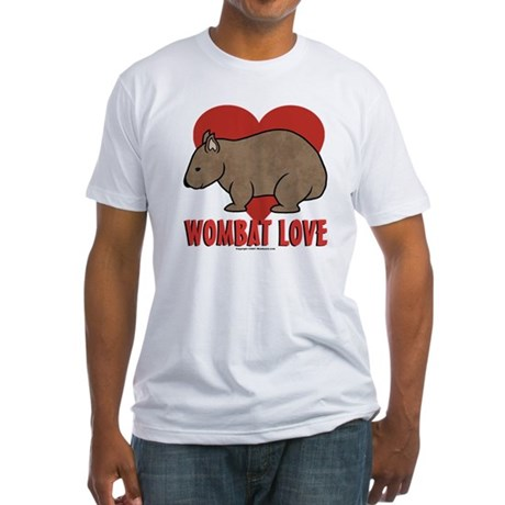 Wombat Love Fitted T-Shirt