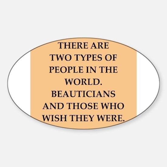 beautician Sticker (Oval)