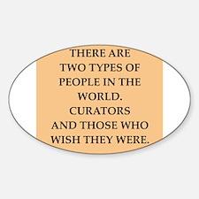 CURATORS Sticker (Oval)
