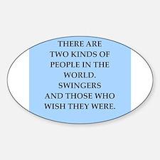 SWINGERS.png Sticker (Oval)