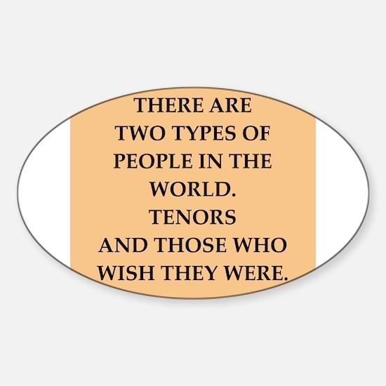TENORS Sticker (Oval)