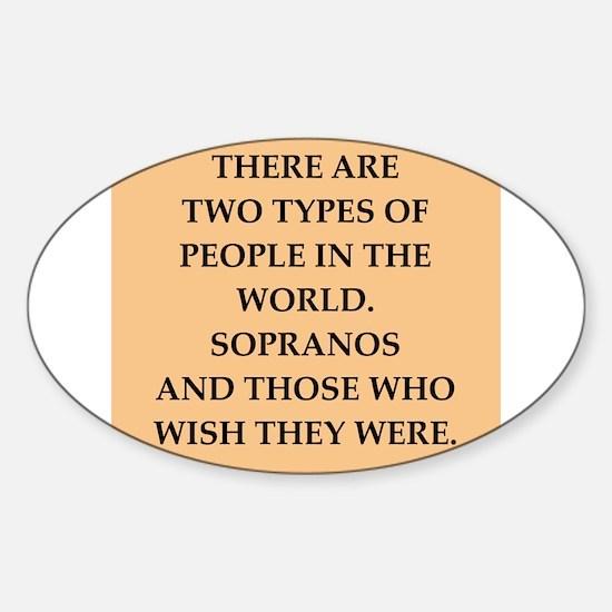 soprano Sticker (Oval)