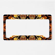 flames safari tribal pattern License Plate Holder