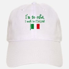 So Cute Italian Baseball Baseball Cap