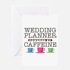 Wedding Planner Powered by Caffeine Greeting Card