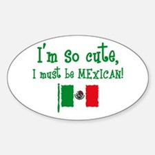 So Cute Mexican Oval Decal