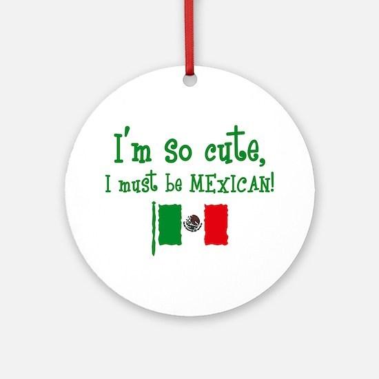 So Cute Mexican Ornament (Round)