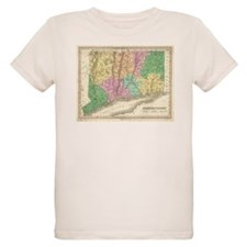 Vintage Map of Connecticut (1827) T-Shirt