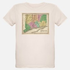 Vintage Map of Connecticut (1827) T-Shirt