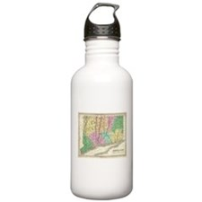 Vintage Map of Connect Water Bottle