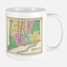 Vintage Map of Connecticut (1827) Mugs